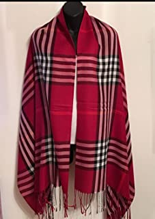 Easy-W Burgundy Men Women Winter Warm Soft Scarf Stole Wrap Shawl 76