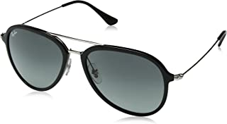 Ray-Ban RB4298 Aviator Sunglasses, Black/Grey Gradient, 57 mm