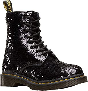 Dr. Martens 1460 Pascal Sequin Womens Black/Silver Boots-UK 5 / EU 38