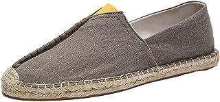 Chaussures décontractées pour Hommes Chaussures en Toile Basses à la Mode Chaussures Plates légères et Douces pour Espadri...