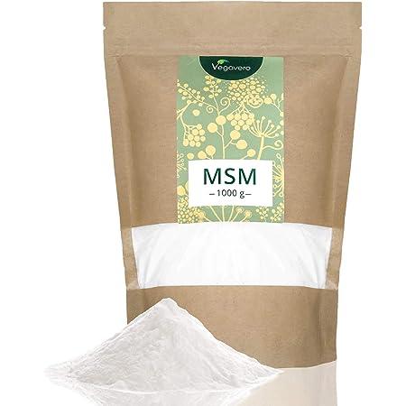 MSM en Polvo Vegavero®   EL ÚNICO 99% PURO   1 kg   Sin Aditivos   Producto Premiado   Testado en Laboratorio   Antiinflamatorio Natural + Dolor Espalda + Articulaciones