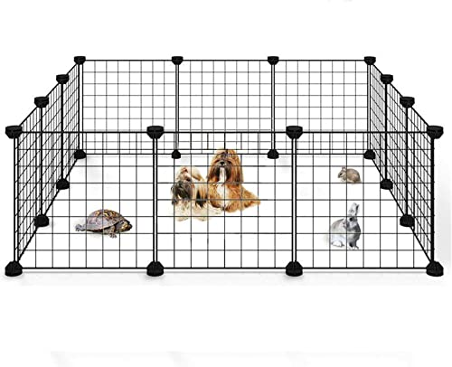 wholesale netuera Pet new arrival Playpen Yard Fence Kennel discount Crate Metal Wire Exercise Cage Indoor Outdoor for Small Animals online sale