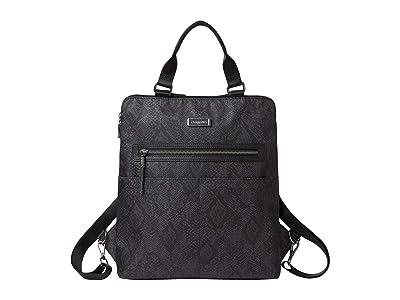 Baggallini Jessica Convertible Tote Backpack (Dark Grey Python Print) Backpack Bags