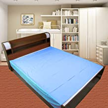 GoodLuck Baby Waterproof Plastic Sheet Double Bed King Size/Baby Adult Waterproof Protection Sheet for Mattress (7.5 x 6.5 feet)- Sky Blue