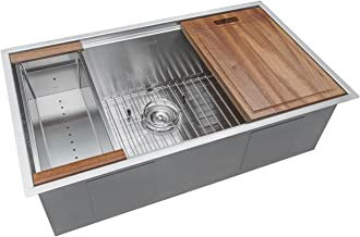 copper sink with drainboard