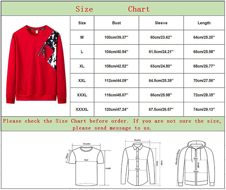 Huangse Men's Street Fashion Sweatshirt Hip Hop Color Block Pullover Camouflage Zipper Splicing Sports Jackets, M-4XL