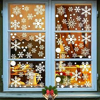 180PCS Christmas White Snowflake Window clings Winter Snowflake Decoration Wonderland Party Supplies Window Decal