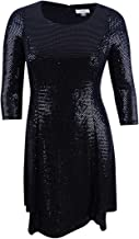 Calvin Klein Women's Plus Size Sequined Fit & Flare Dress