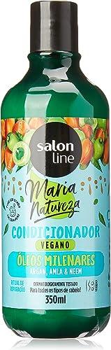 Salon Line, Condicionador Maria Natureza Óleos Milenares Ritual Reparação, 350ml