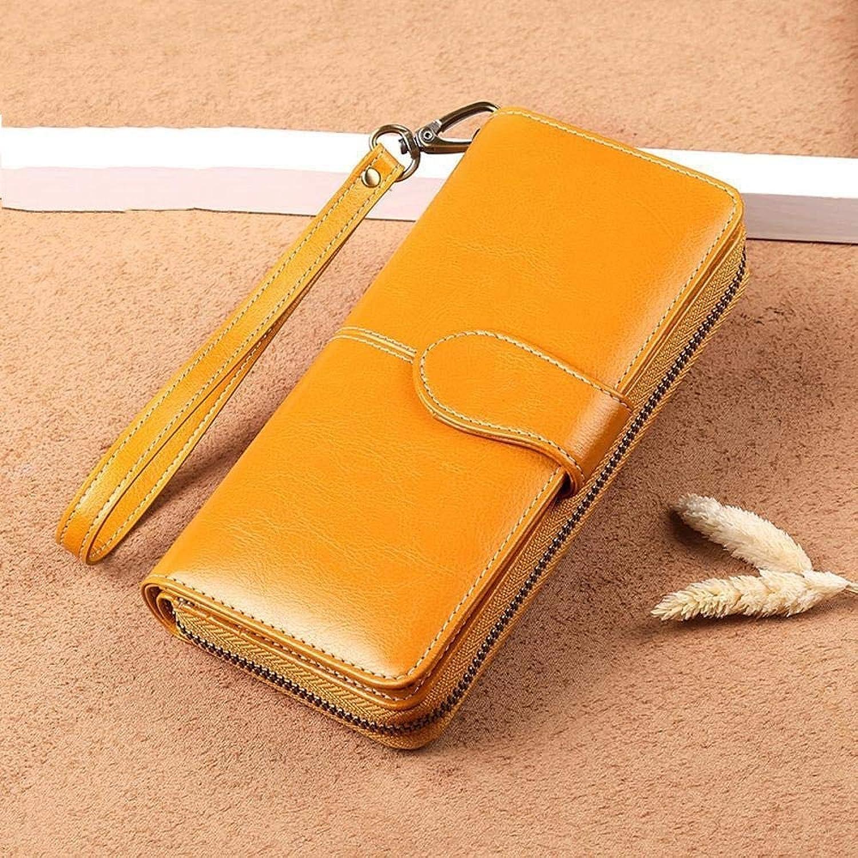 Girls Purse Women's Wallet,Women's Wallet LargeScale Zipper MultiCard Bulk Wallet Cowhide 9.5  19  3cm
