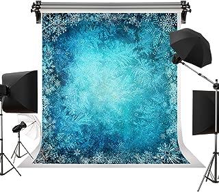 Kate 2 m (B) x 3 m (H), Winter Hintergrund, blauer Hintergrund, weißer Schnee Hintergrund, Schneeflocke, Fotostudio, Baby, Neugeborene, Kinder, Erwachsene, Portrait Requisiten