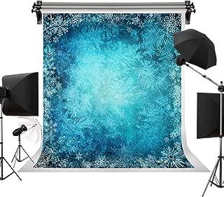 Kate 10x10ft/3x3m Winter Backdrop Blue Background White Snow Backdrops Snowflake Photography Photo Studio Baby Newborn Children Adults Portrait Props