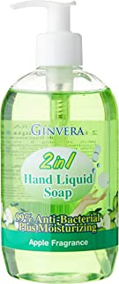 Ginvera 2In1 Hand Liquid Soap, Apple, 500 ml