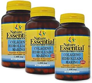 Colágeno marino hidrolizado + magnesio +vitamina C. 1200 mg. 90 comprimidos (Pack 3 unid.)