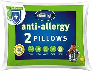Silentnight Almohada hipoalergénica, Color Blanco, Microfibra, Blanco, Pack de 2