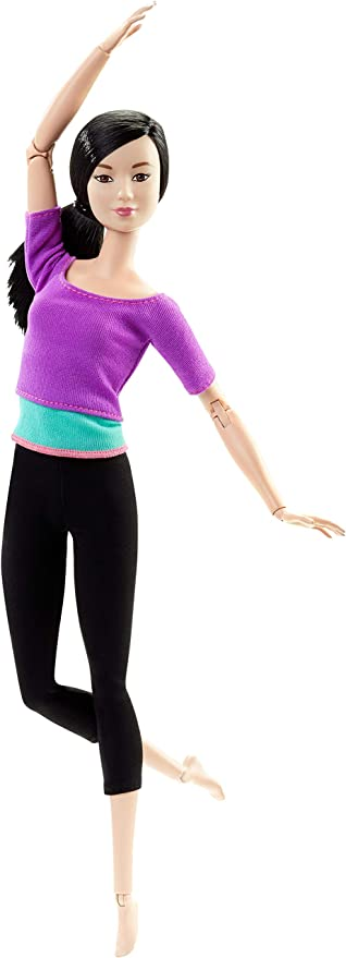 Blue Top Green Details about  /2021 Barbie Made to Move Dolls Lot of 4 Purple Orange