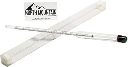 North Mountain Supply Glass Hydrometer - Alcoholmeter 0-200 Proof & 0-100 Tralle