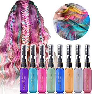 MS.DEAR Temporary Hair Color Chalk 8 Colors Easy Wash Out Hair Color Instantly Hair Chalks Hair Dye Mascara for Girls Kids Women