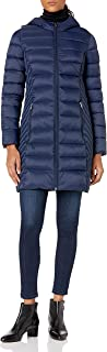 womens Midlength Hooded Packable Jacket