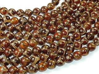Tibetan Agate Beads, 8mm Round Beads, Beads for Healing and Jewelry Making | BeadBasic