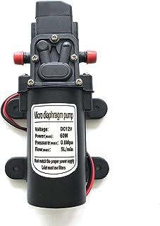 12V 60W High Pressure Diaphragm Self Priming Water Pump 5LPM 115psi 1.3GPM for Caravan/RV/Boat/Marine