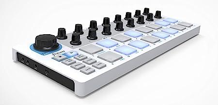Arturia Beatstep - Controlador y secuenciador (16 pads), color blanco