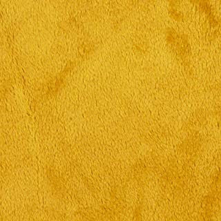 Shannon Fabrics Shannon Minky Solid Cuddle 3 Gold Fabric By The Yard