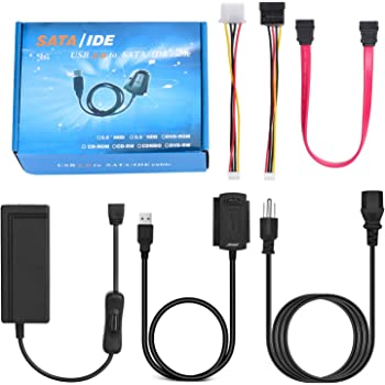 Amazon.com: AGPtek SATA/PATA/IDE Drive to USB 2.0 Adapter Converter Cable  for Hard Drive Disk HDD 2.5