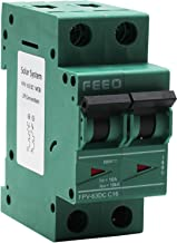 FEEO 16A Plastic Double Pole DC MCB Suitable for Solar Application, Green