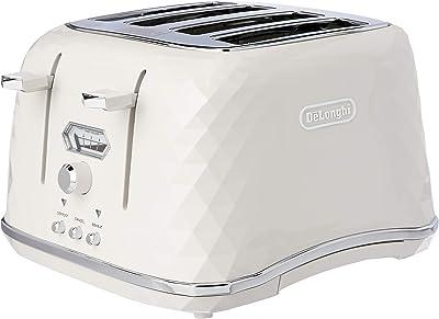 De'Longhi Four Slice Toaster Four Slice Toaster, White Polish, CTJX4003W