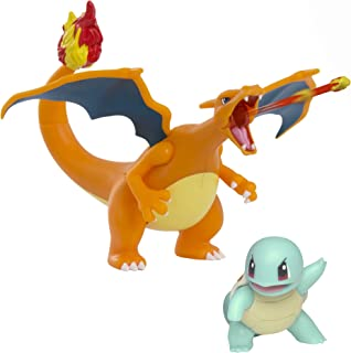 Pokemon Fire and Water Battle Pack - includes 4.5 Inch Flame Action Charizard and 2