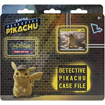 Amazon Com Pokemon Tcg Detective Pikachu Case File 3 Booster Pack A Promo Card A Metallic Coin Genuine Cards Toys Games