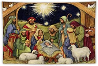 VinMea Wall Tapestry Nativity Tapestry Wall Hanging As Wall Art and Home Decor for Bedroom, Living Room, Dorm Decor 51.2 X...