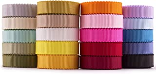 Summer-Ray 40 Yards (36.5 Meters) Petersham Ribbon 10mm (3/8 inch) 20 Colors Bow Making Sewing DIY Craft Value Pack