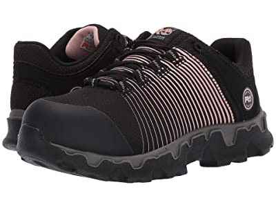 Timberland PRO Powertrain Sport Alloy Safety Toe ESD (Black Ripstop Nylon/Rose Gold Print) Women