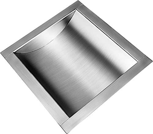 """discount Mophorn 304 Stainless Steel Drop-in Deal Tray 10"""" Deep x 8"""" Wide wholesale outlet sale x 1.6"""" High Brushed Finish for Cash Register Window sale"""