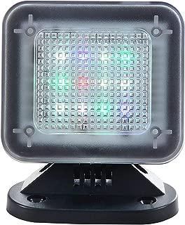 WALI Dummy Fake Security Tv Light LED Simulator with Power Adapter Timer Sensor Crime Prevention (FTVP001), Black