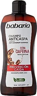 BABARIA CAFEINA CHAMPU Anti-CASPA PREVENCION CAIDA 400ML Unisex Adulto Negro Único