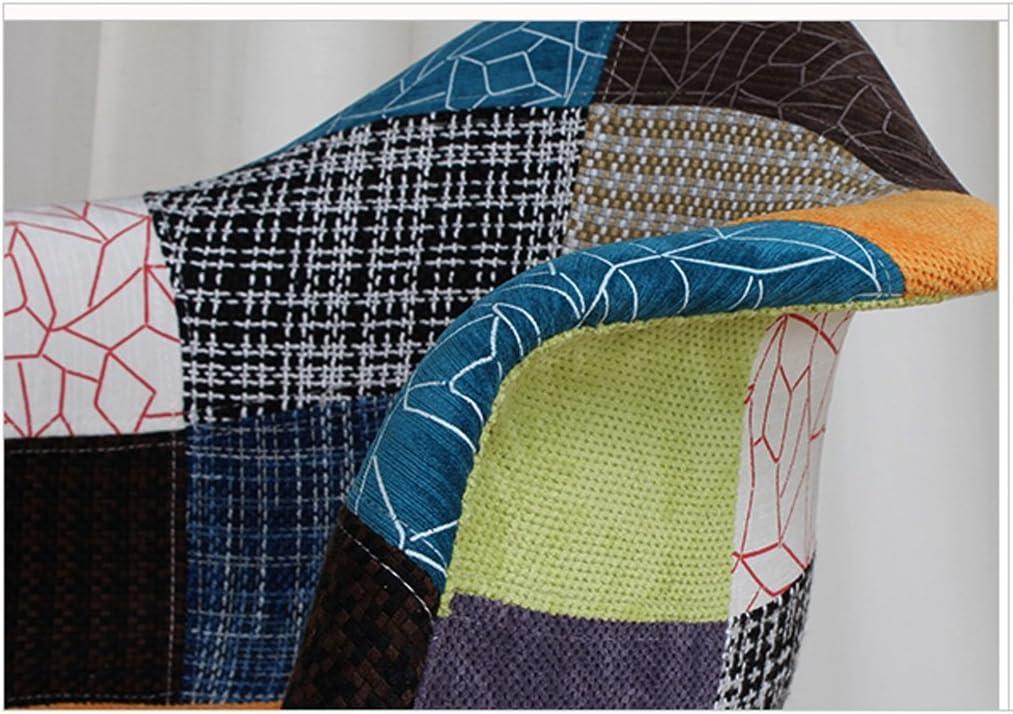 HXF- Dossier de Chaise d'accoudoir de Tissu Moderne Simple dinant la Chaise Durable (Color : D) A