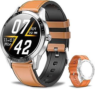 Smartwatch Reloj Inteligente Impermeable IP68, Pulsera de Actividad con Cronómetro, Podómetro, Pulsómetro, Monitor de Sueño, Reloj Deportivo con Teléfono Bluetooth, Smart Watch iOS para Hombre Mujer