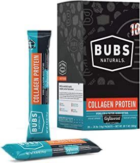 BUBS Naturals Grass-Fed Collagen Protein Stick Packs | 10 Grams | Box of 20
