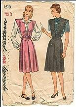 Simplicity 1510 Vintage 1940's Maternity Dress Pattern B30