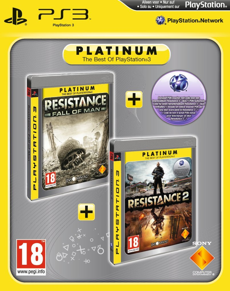 Resistance: Fall of Man & Resistance 2 - Platinum Double Pack (PS3 ...