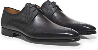 Magnanni Men's Leather Thunder Derby Shoes Grey