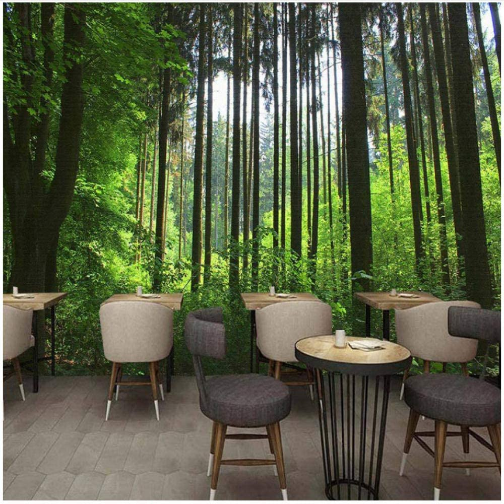 Max 40% OFF xbwy Wall Decoration Mural Wallpaper Forest Tree Photo Wal Selling and selling Green