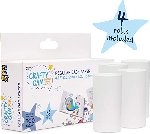 new arrival Sunny & Fun Crafty Cam Printing Paper Rolls (x4) discount - lowest Total 300 Prints outlet sale
