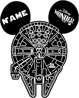 LARGE Personalized Disney Millennium Falcon Star Wars Inspired Magnet for Disney Cruise with your Name