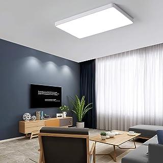 White LED Ceiling Light, Square Modern LED Flush Mount Ceiling Light, Ultrathin 3 Color Dimmable LED Ceiling Light Lamps f...