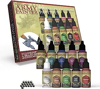 The Army Painter | Metallic Paint Set | 10 Peintures Métallisées et 16 Billes de Mélange pour collectionneurs de Figurines...