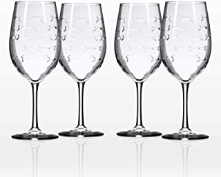 Rolf Glass School of Fish Large Wine Glass 18 ounces Set of 4